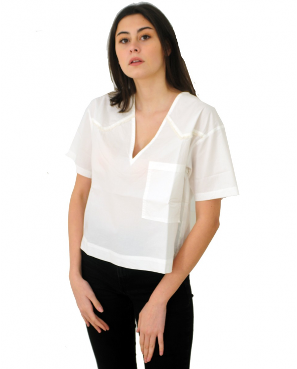 8PM T-shirt over in cotone Latte D8PM01M54.188