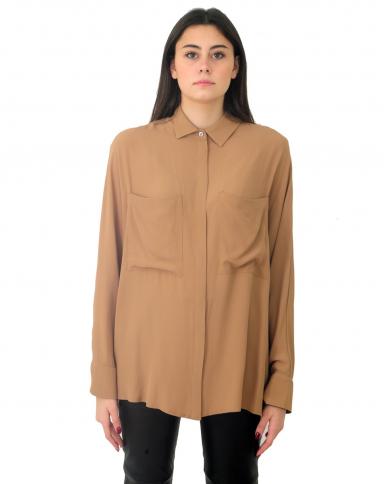SEMI COUTURE Camicia misto seta Rabarbaro Y0WU04.U71-0
