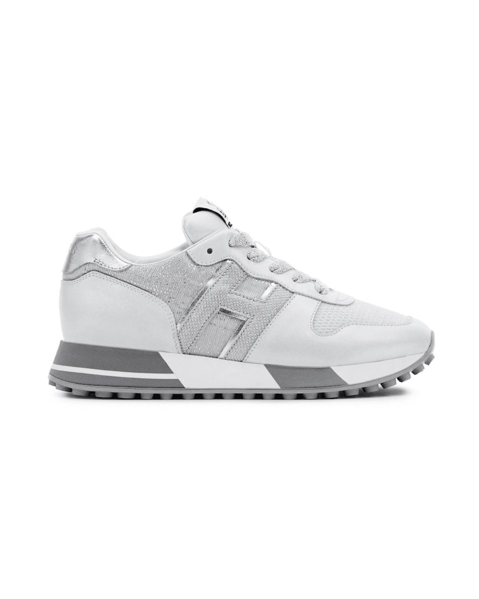 HOGAN Sneakers H383 bianco/argento