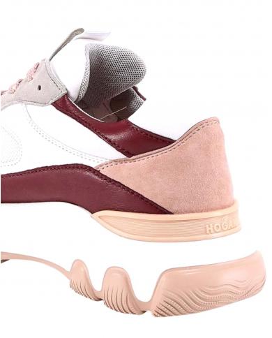 HOGAN Hyperactive sneakers in pelle e camoscio bianco HXW5400DG60PH70RAG.B001