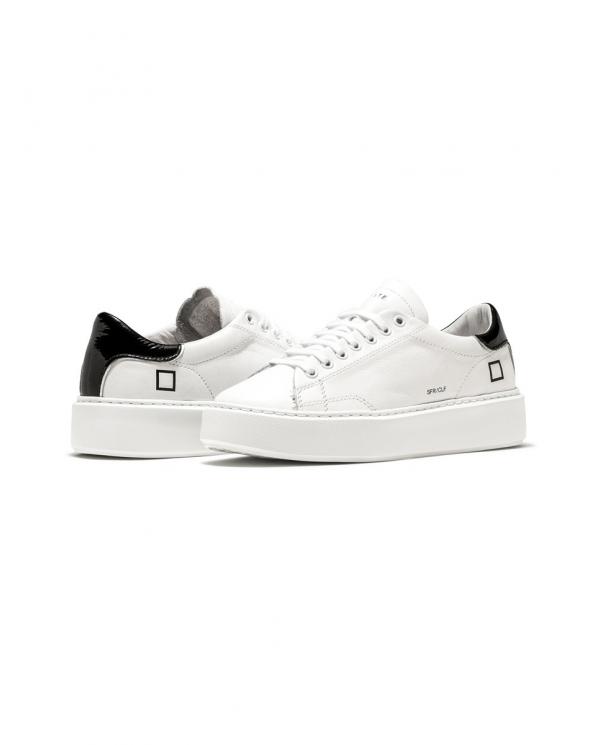 D.A.T.E. Sneakers SFERA CALF bianco/nero W341-SF-CA-WB