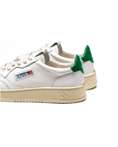 AUTRY Sneakers AULM LN25 bianco/verde AULM LN25.WHT/AMA