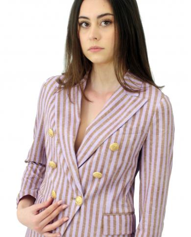 CIRCOLO 1901 Giacca donna doppiopetto asimmetrico violet FD1932.VIOLE