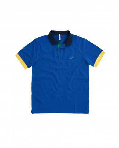SUN 68 Polo POLO 3 COLOR WAY EL Royal A31112 58