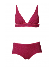 OSEREE Bikini triangle v lumiere FUCSIA LTS205 LUREX FUCSIA