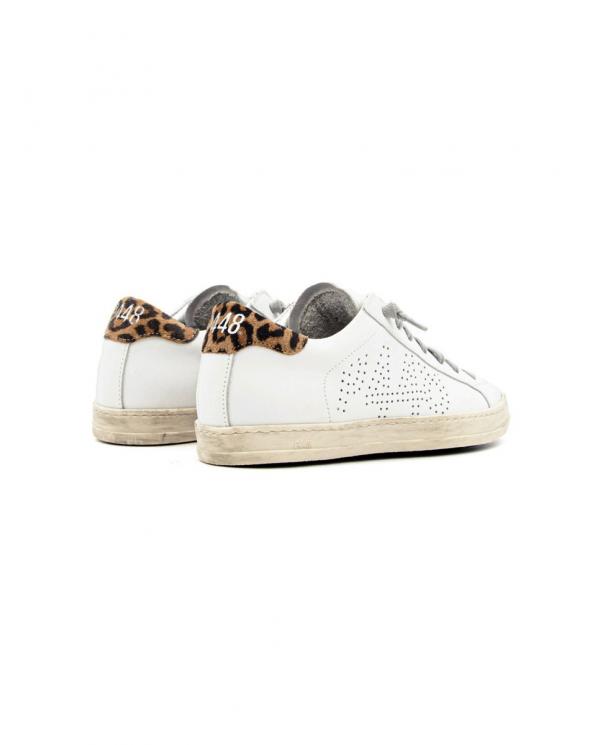 P448 Sneakers John bianco/leopardato S21BJOHN.WHI/LEO