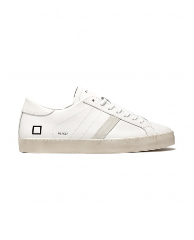D.A.T.E. Sneakers HILL LOW CALF Bianco M321-HL-CA-WH
