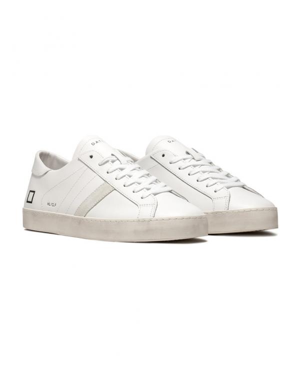 D.A.T.E. Sneakers HILL LOW CALF Bianco M321-HL-CA-WH