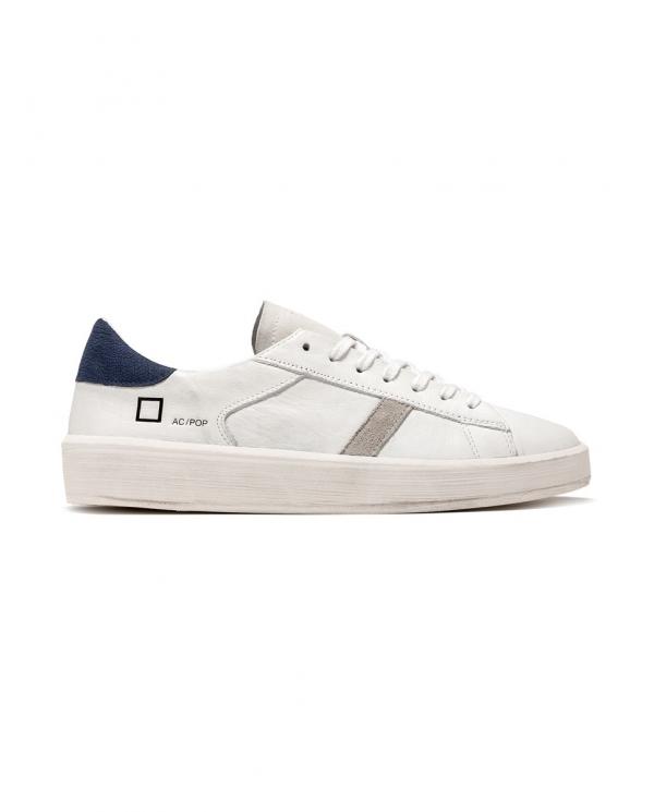 D.A.T.E. Sneakers ACE POP bianco/blu M341-AC-PO-WL