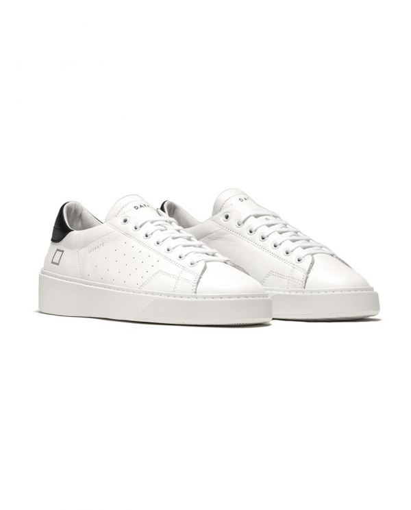 D.A.T.E. Sneaker LEVANTE CALF bianco/nero M341-LV-CA-WB