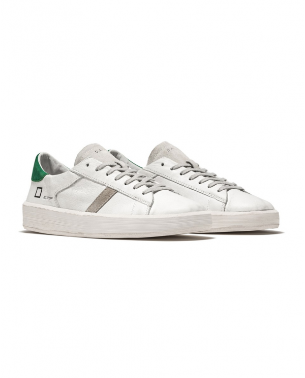 D.A.T.E. Sneakers ACE POP bianco/verde M341-AC-PO-WG