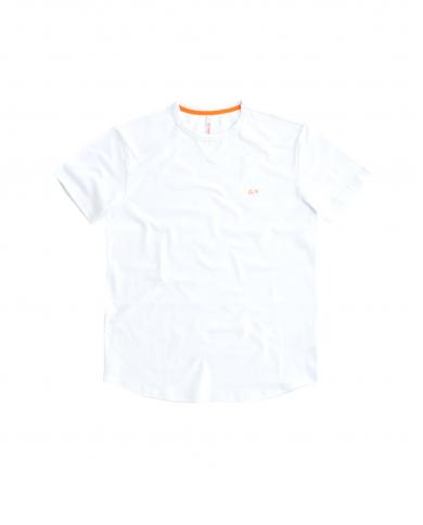 SUN 68 T-shirt solid el Bianco T31114 01