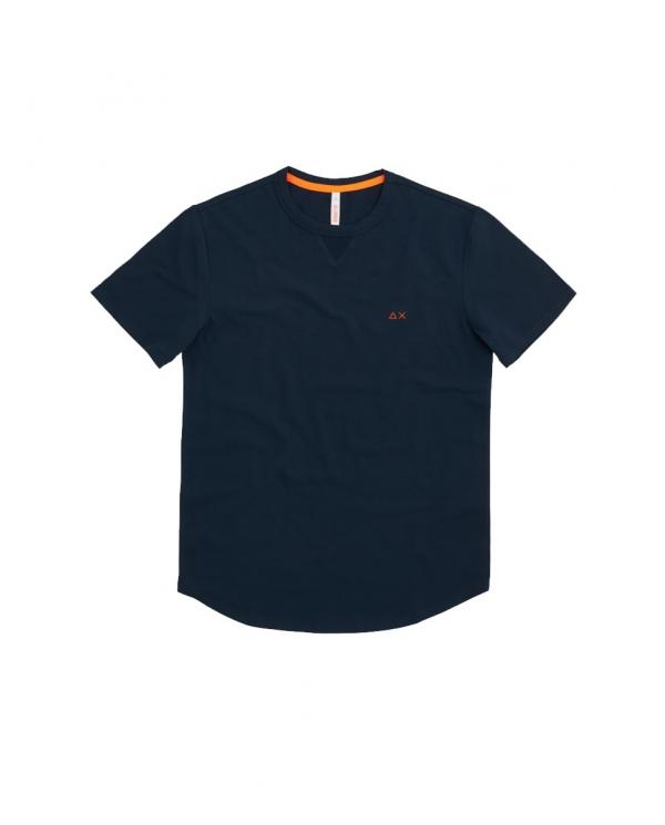 SUN 68 T-shirt solid el Blu T31114 07