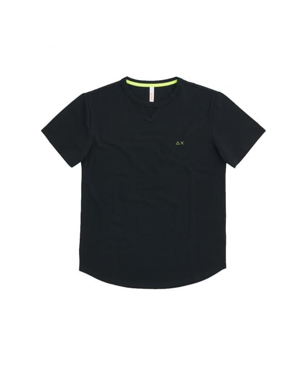 SUN 68 T-shirt solid el Nero T31114 11