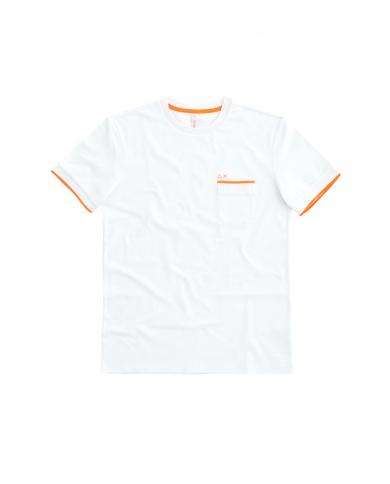 SUN 68 T-shirt knit rib el Bianco T31115 01
