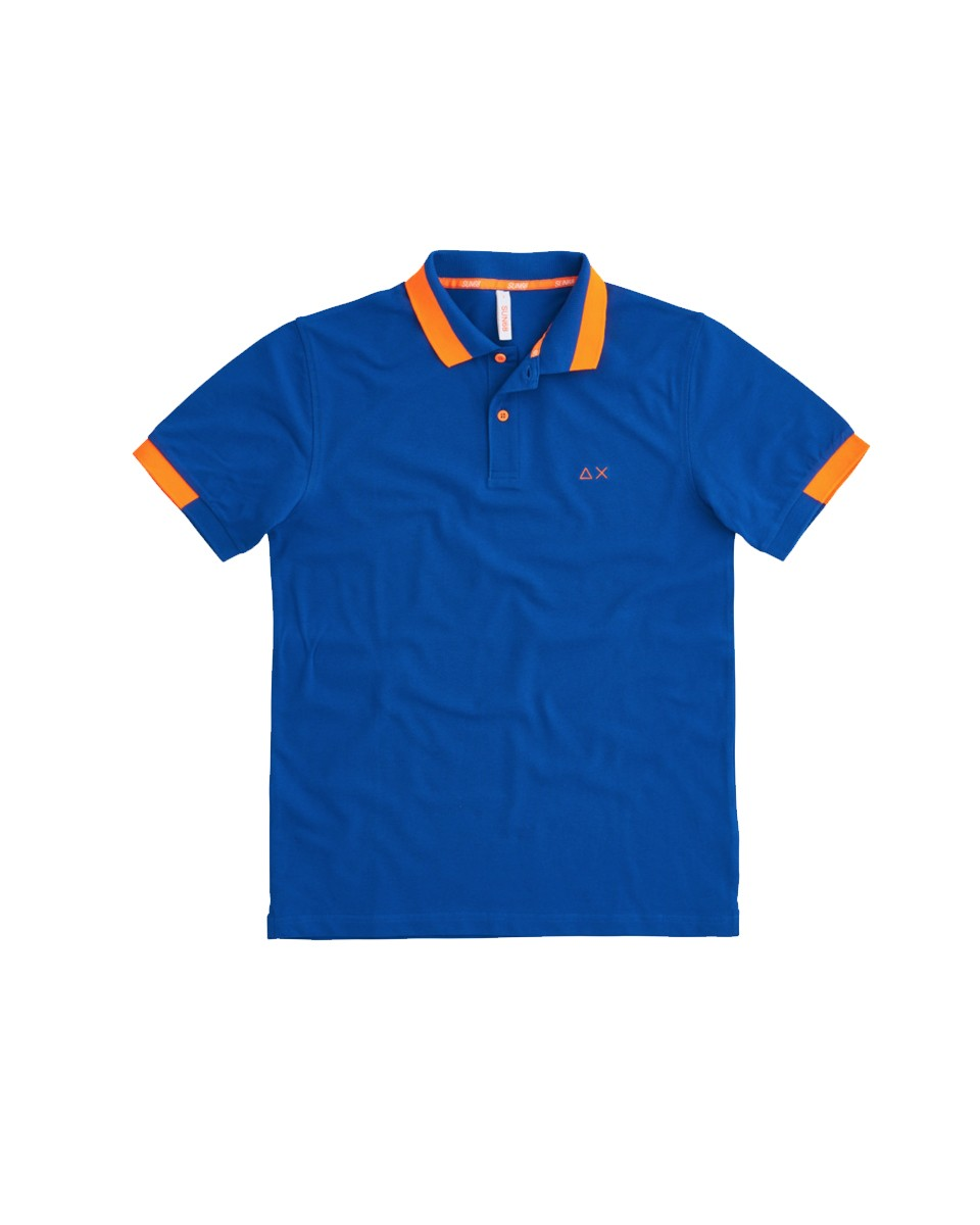 SUN 68 Polo BIG STRIPES FLUO EL Royal A31119 58