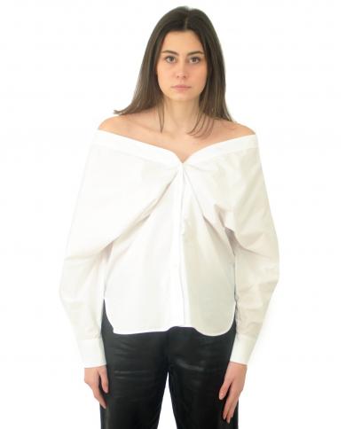 TELA Camicia SAPONE off-shoulder Bianco 02001 010151.A001