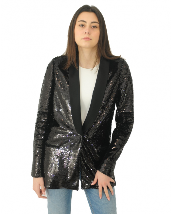 TWINSET Giacca in full paillettes NERO 202TP2110.00006