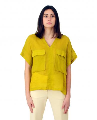 TELA Camicia PONTE verde