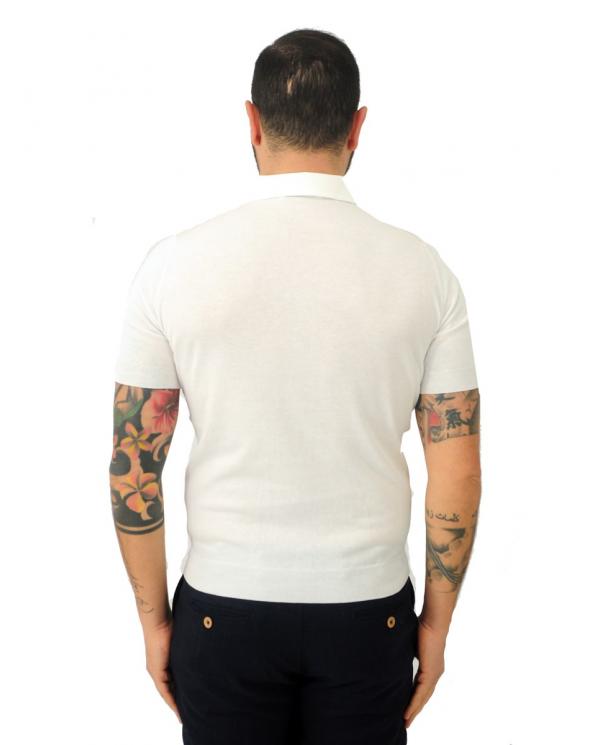 FILIPPO DE LAURENTIIS Polo manica corta in cotone Bianco PL11MCPAR CR14R.001