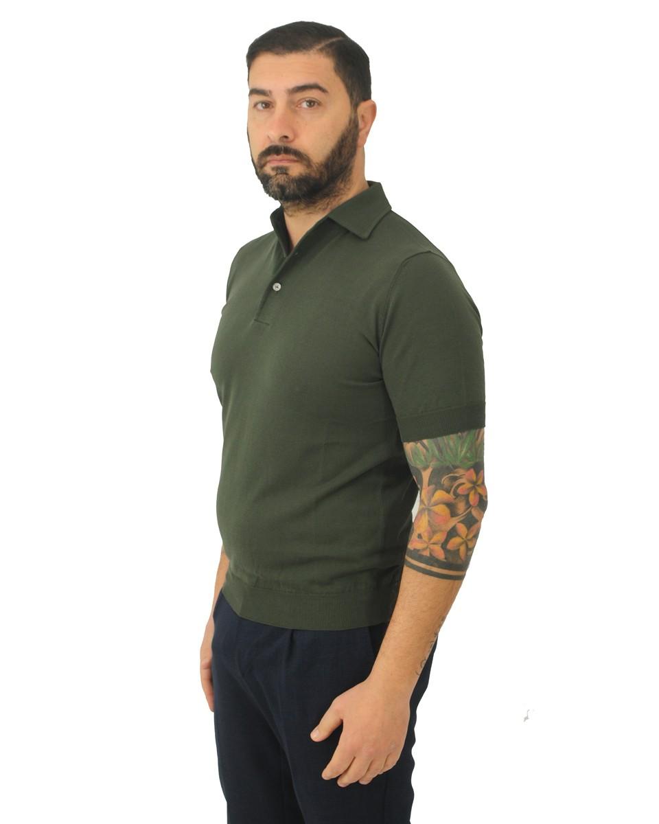 FILIPPO DE LAURENTIIS Polo manica corta in cotone Verde