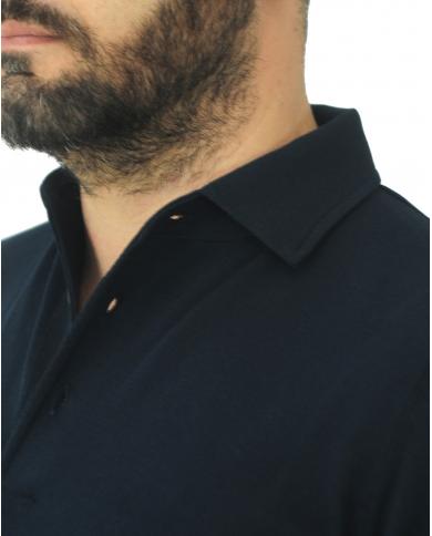 FILIPPO DE LAURENTIIS Polo manica corta in cotone Blu PL11MCPAR CR14R.890