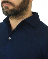 FILIPPO DE LAURENTIIS Polo manica corta in lino Blu PL11MCPAR LC14R.890