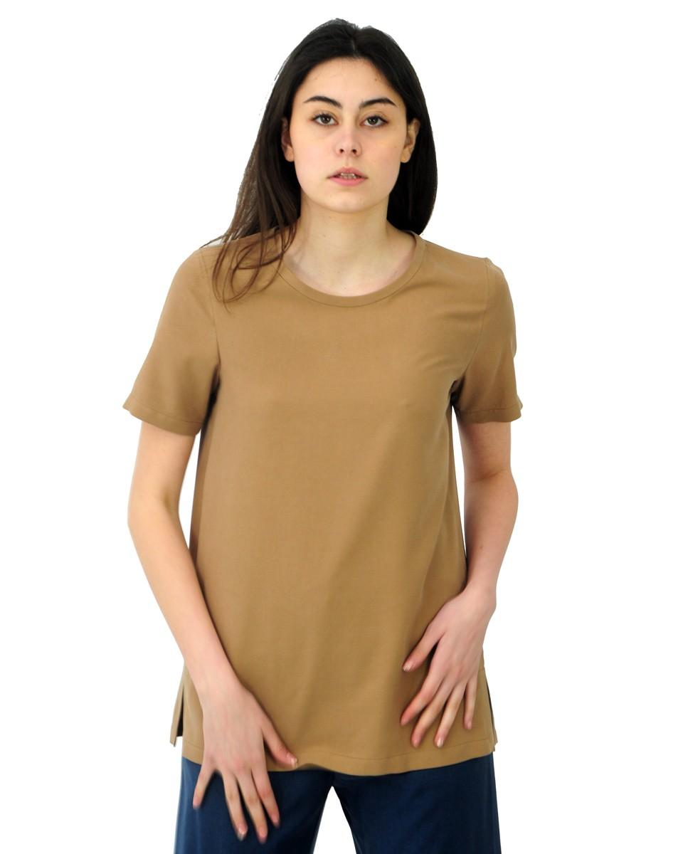 'S MAX MARA T-shirt ORIA in tela di seta Coloniale