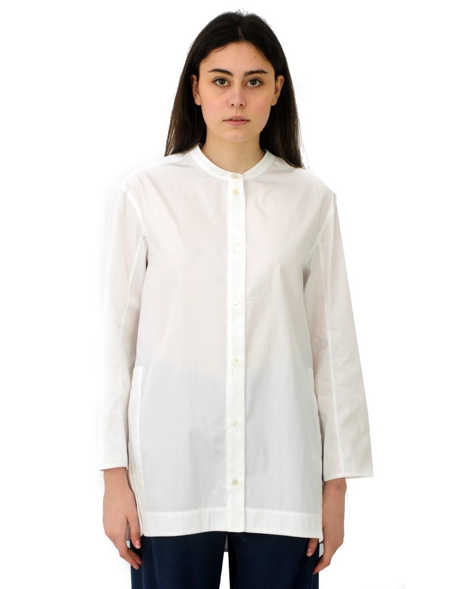 'S MAX MARA Camicia ANNY in popeline di cotone bianca
