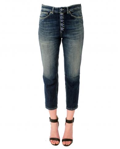 DONDUP Jeans loose Koons bottoni gioiello Blu DP268B DS0229D BD2.800