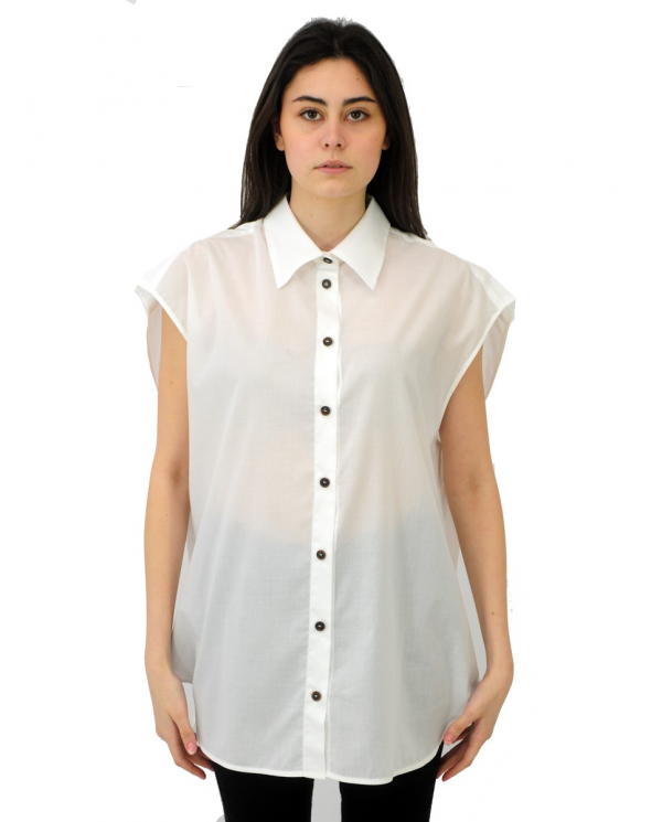ERIKA CAVALLINI Camicia Olivia bianco P1SU01.A01-0