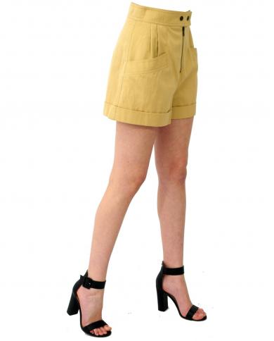 TWINSET Shorts a vita alta CUBAN SAND 211TT2073.06017