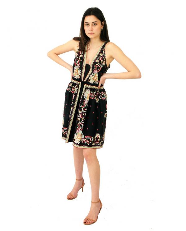 TWINSET Abito in popeline con stampa foulard MICRORIGA 211TT2571.06152