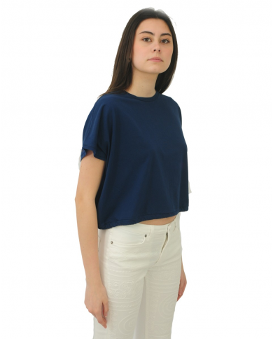 DEPARTMENT5 T-shirt coulisse YUMANA Blu DT001 1JF0001.819