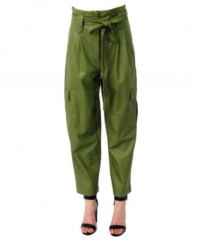 TWINSET Pantaloni cargo con cintura VERDE ALPINO 211TT2024.00914