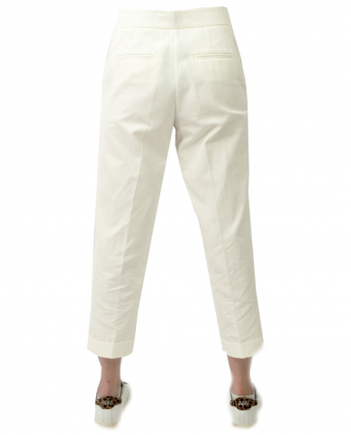 TWINSET Pantalone classico tasche america PANNA 211TT2072.00166