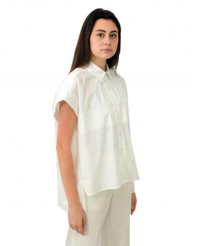 TWINSET Camicia over in popeline BIANCO OTTICO 211TT245E.00001
