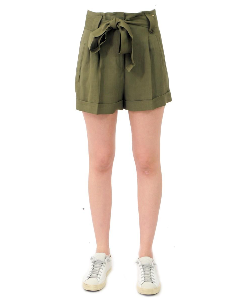 TWINSET Shorts in misto lino VERDE ALPINO 211TT2586.00914