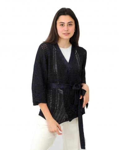 TWINSET Cardigan in maglia lurex NERO MULTICOLOR LUREX 211TT3091.06101