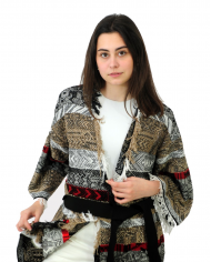 TWINSET Maxi cardigan jacquard MULTICOLOR 211TT3271.06146
