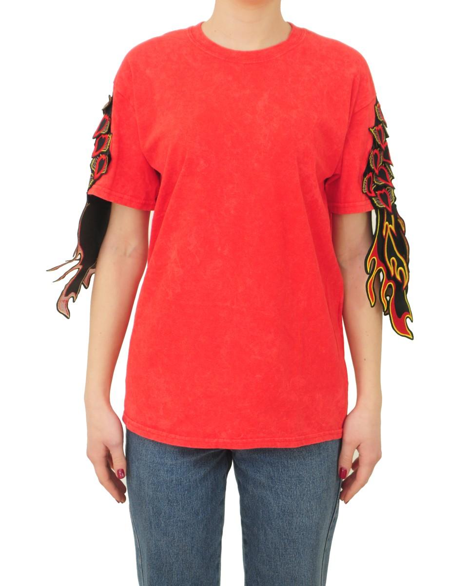 RAGYARD T-shirt Donna RAG728W SACRED HEART RED Rosso