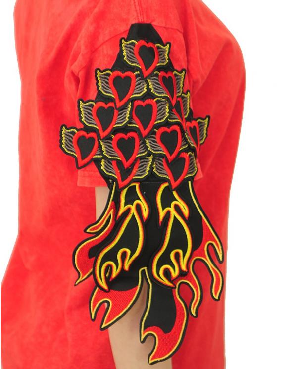 RAGYARD T-shirt Donna RAG728W SACRED HEART RED Rosso RAG728W.SACRED HEART RED