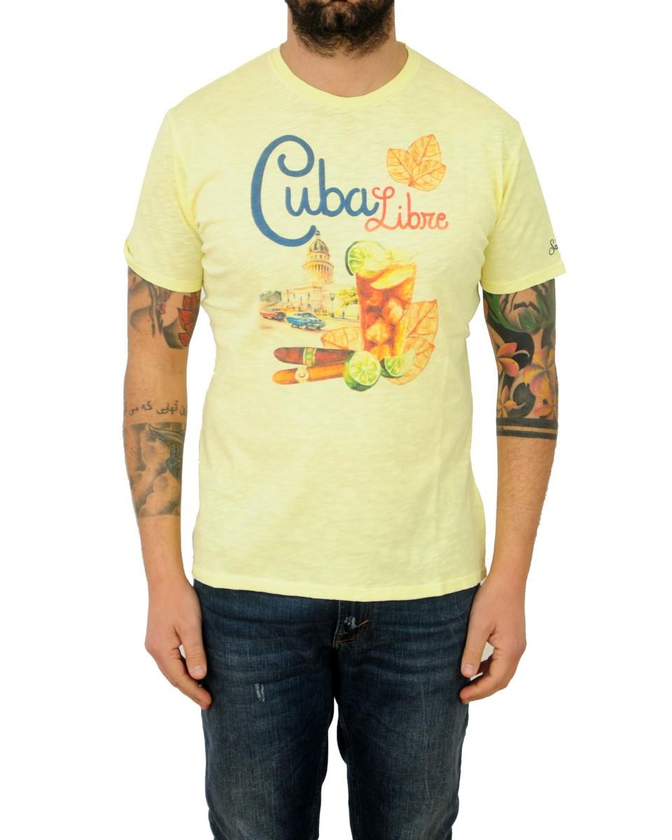ST. BARTH T-shirt stampata Giallo