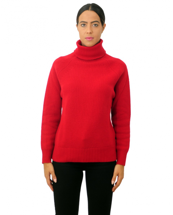 WOOLRICH Maglia w's turtle neck Rosso WWMAG1823.UF0442 5059