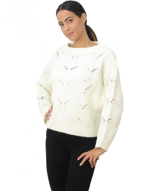 TWINSET Maglioncino in lana Avorio 192LL3HGG.018