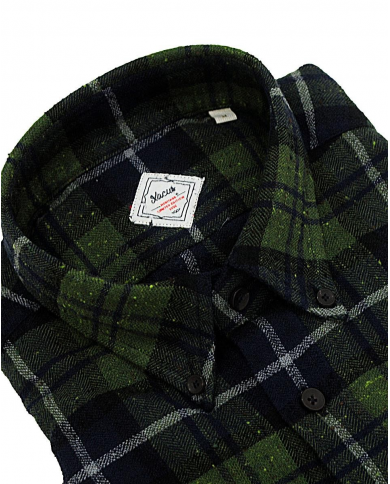 XACUS Camicia button down a quadri Verde 421ML. 31363 002