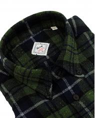 XACUS Camicia button down a quadri Verde 421ML. 31363 002