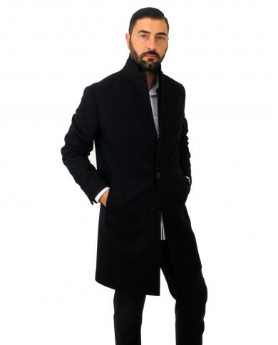 PALTO' Cappotto in lana Agostino monopetto Blu AGOSTINO.FELT 205