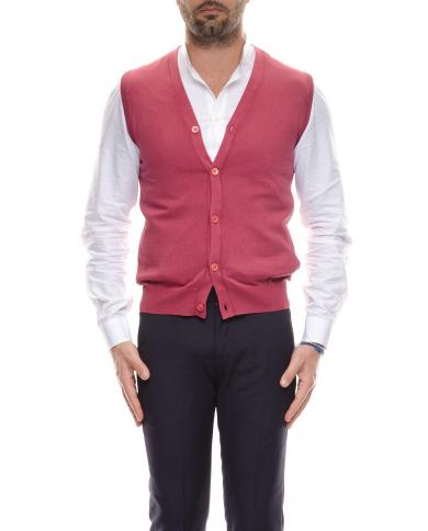 CRUCIANI Gilet in cotone Rosso CU3567.2382EF