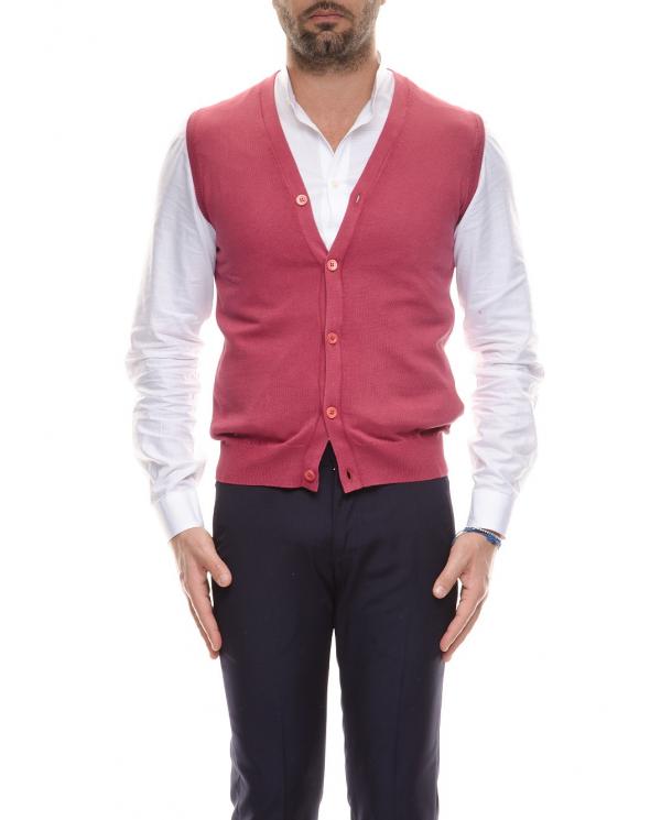 CRUCIANI Gilet in cotone Rosso